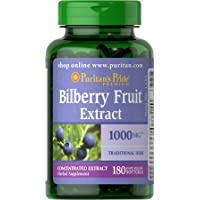 Puritan's Pride Bilberry 1000mg, Softgels, 180ct