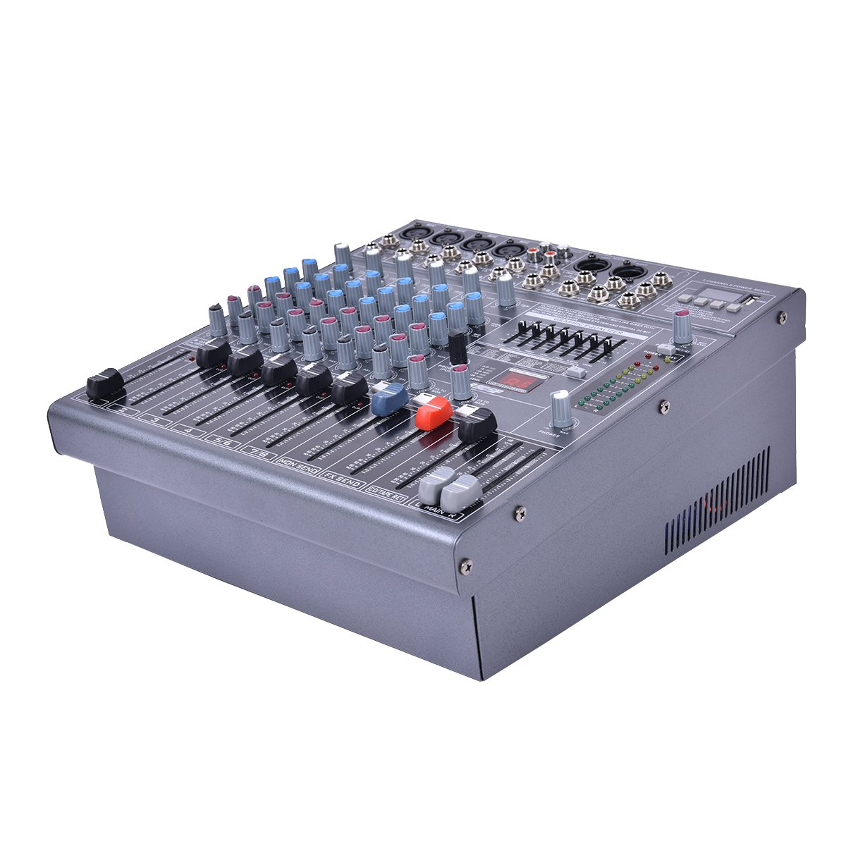 Costzon Professional 8 Channel Mixing Console Studio Audio Mixer 12''