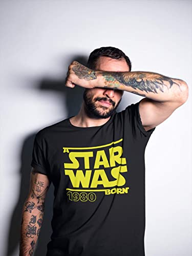 Star Was Born 1980 - Regalo de cumpleaños para Hombre-s y Mujer-es - 40 años - Cuarenta - Cuadragésimo - Camiseta Divertida - Fun-Shirt - Humor - Unisex - Birthday (S): Amazon.es: Ropa y accesorios