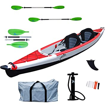 Canoa Kayak Hinchable de Dos plazas Drop Stitch de Alta ...