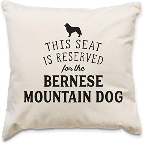 Affable Hound Reserved For The Bernese Mountain Dog Cushion Cover Dog Gift Present Home Kitchen