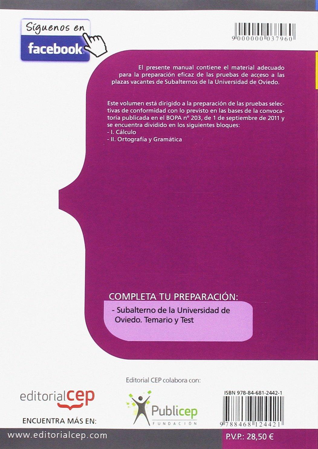 Amazon.com: Subalternos, Universidad de Oviedo. Ortografía y ...