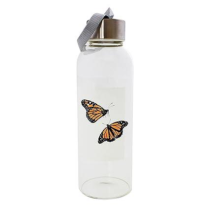 Monarch mariposas 420 ml botella de cristal