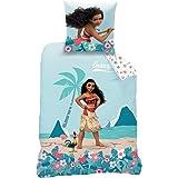 Disney 045038 VAIANA Ocean Parure pour Enfant Coton Vert 200 x 140 cm