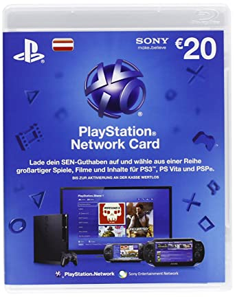 Playstation Network Card 20 Euro Livecard Ps3 Psp At German