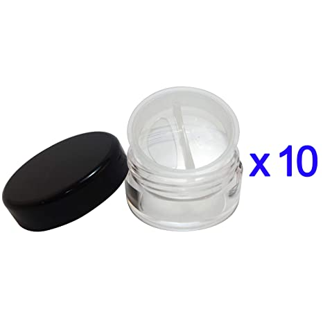 5ae0d0322f7d Amazon.com: 10 Pcs Made in Taiwan 10g Travel Size Sifter Loose ...