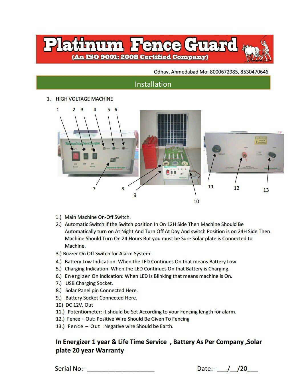 Platinum Control System Solar Fence Guard Without Battery And Panel Electric Circuits Circuit Resource Home Improvement