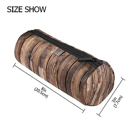 COOSUN - Estuche de madera oscura con forma de cilindro para ...