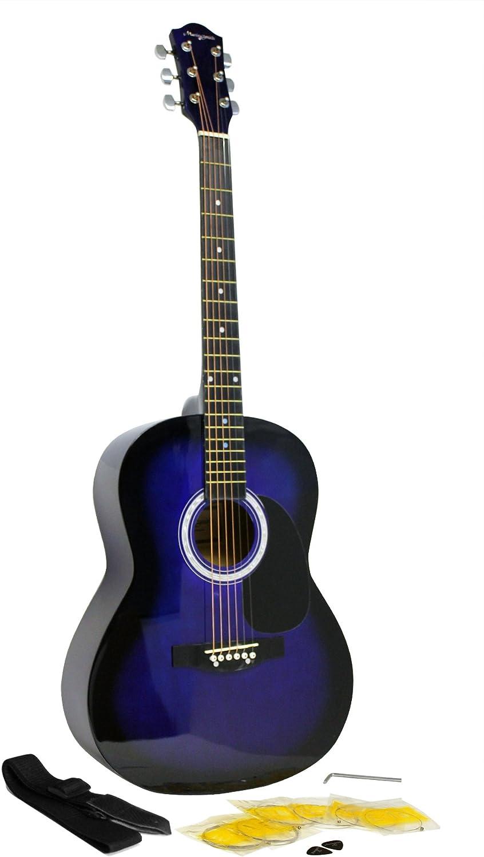 Martin Smith kit de guitarra acústica con cuerdas de la guitarra azul púas de guitarra correa de la guitarra