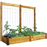 Gronomics RGBTK3495 Raised Garden Bed, 34 by 95 by 13-Inch with 95 by 80-Inch Trellis Kit