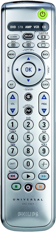 Philips - Mando a Distancia (CD/MD,Cable,DVD/BLU-Ray,Sat,TV,VCR, IR inalámbrico, Botones, Plata): Amazon.es: Electrónica