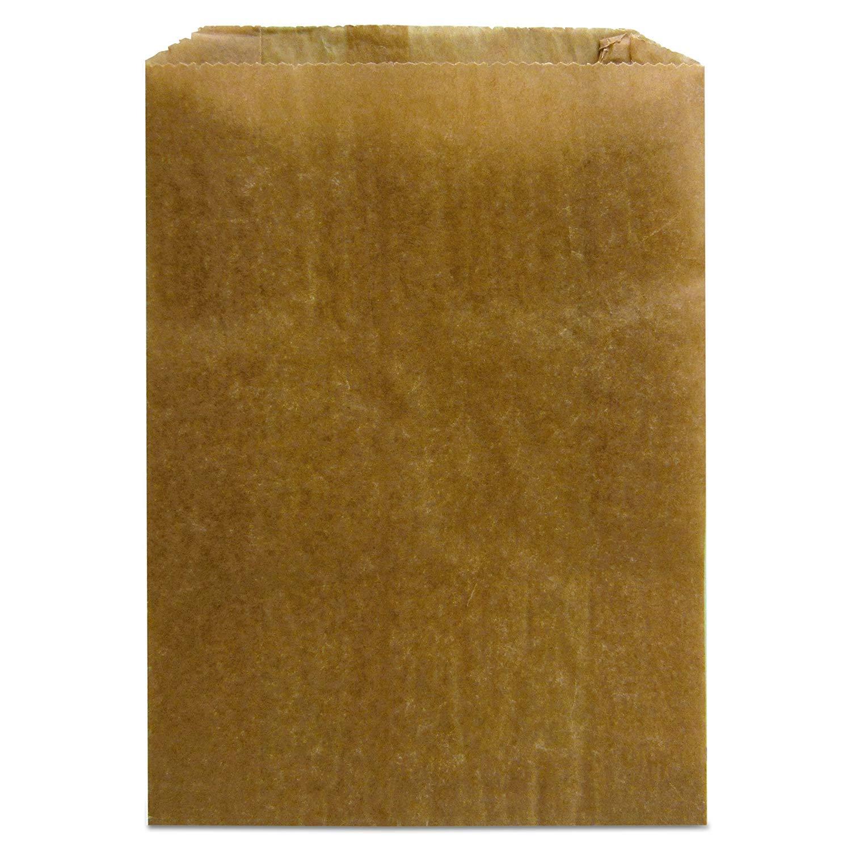 """Hospeco KL Waxed Kraft Feminine Hygiene Liner Bag with Gusset (Case of 1400), 10.25"""" x 7.5"""" x 3.5"""