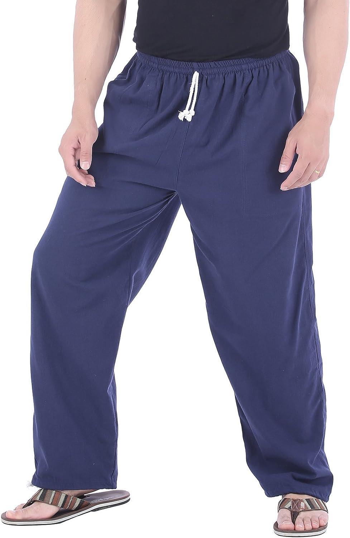 Againg Mens Drawstring Hit Color Jogging Vintage Straight Sports Pants
