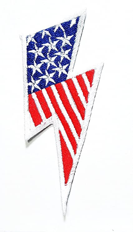 Amazon 42 Inches X 17 Inches Lightning Bolt American Flag