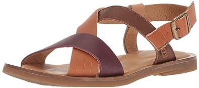 El Naturalista Womens N5181 Dolce Rioja Mixed//Tulip Flat Sandal