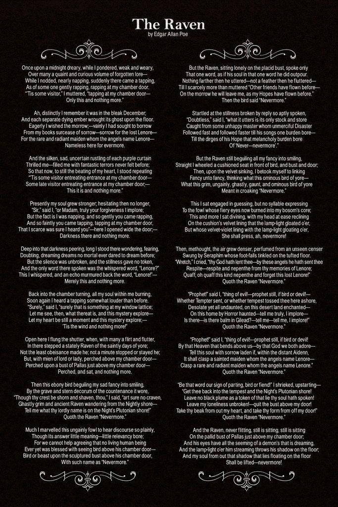 Edgar Allan Poe Poems The Raven 2