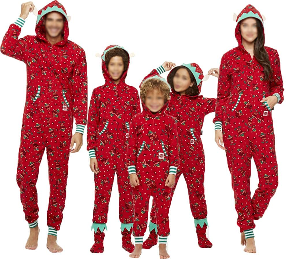 473e06d24a Amazon.com  Matching Family Christmas Pajamas Adult one-Piece Sleepwear  Women Men Boys Girls Jumpsuit Romper  Clothing