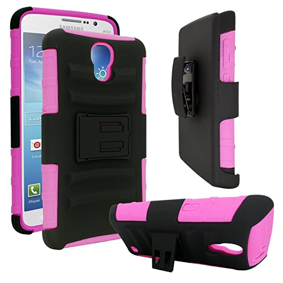 best cheap ddf5c f4087 Samsung Galaxy Mega 2 Case - Customerfirst *BUY ONE get ONE Free* Armor  Skin Case Shock Proof Heavy Duty With Swivel Belt Clip Cover with Stand  Black ...