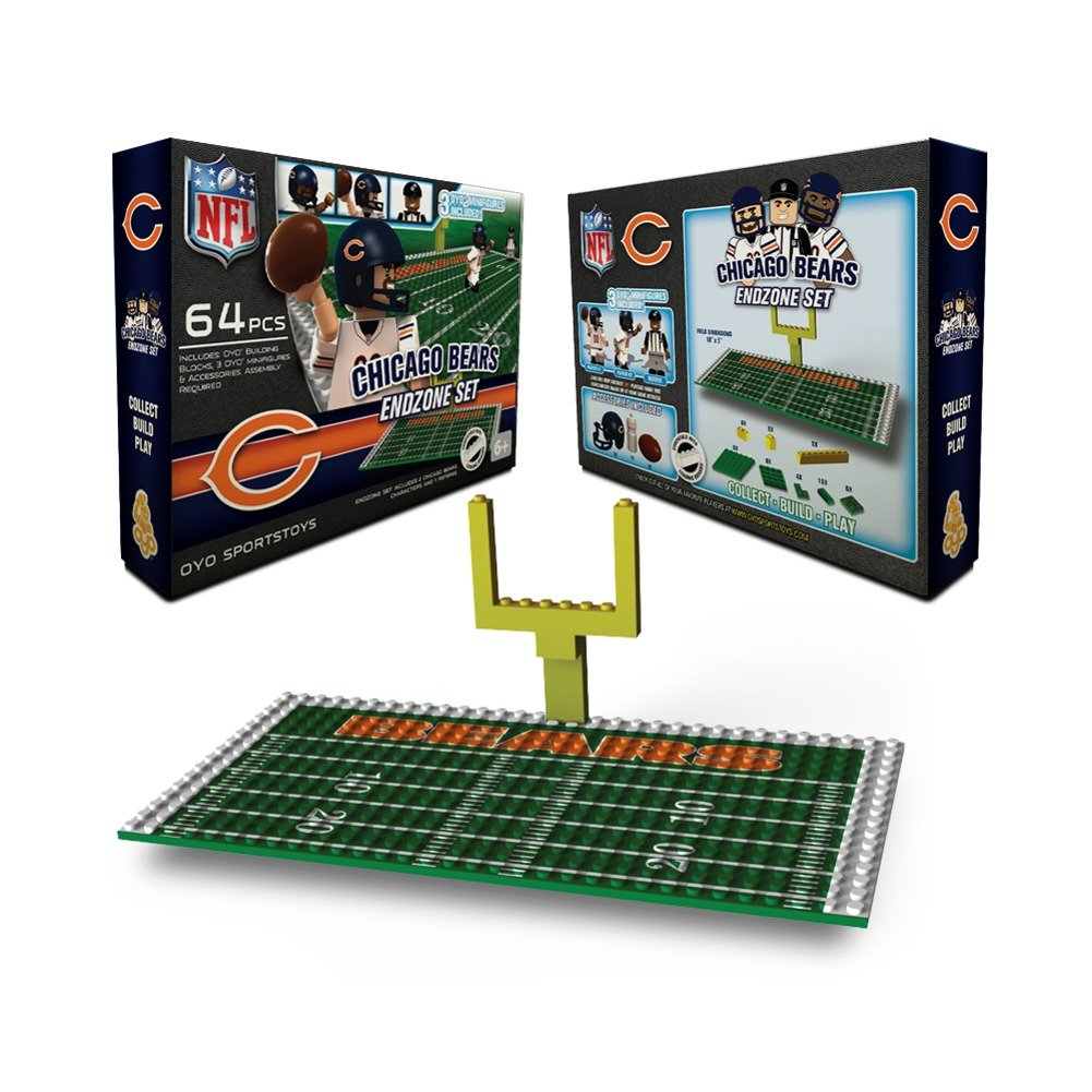 Chicago bears bathroom accessories - Amazon Com Nfl Chicago Bears Endzone Toy Set Sports Fan Toy Figures Sports Outdoors