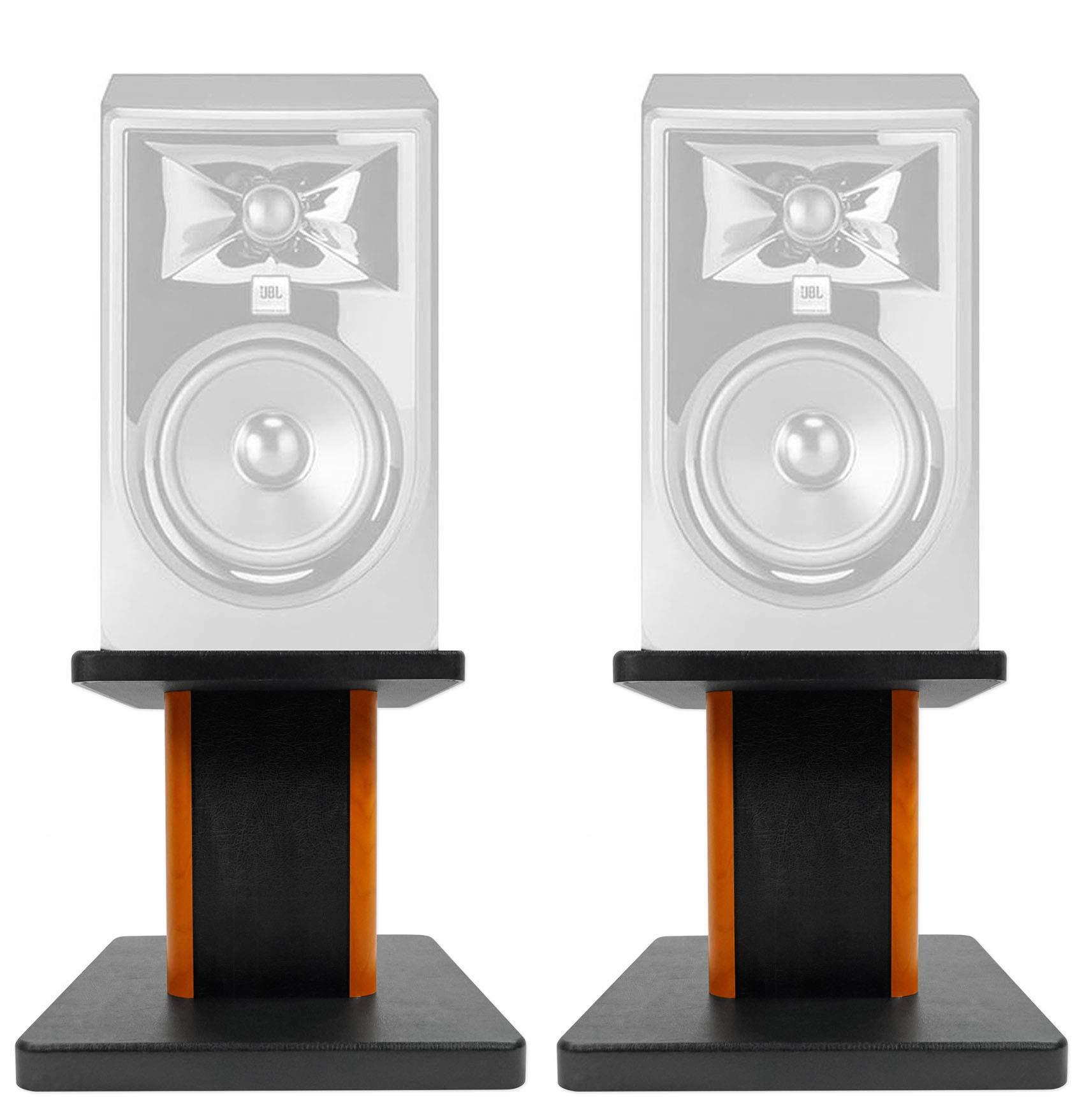 ROCKVILLE 8'' Wood Studio Monitor Speaker Stands for JBL 308P MKII Monitors by ROCKVILLE