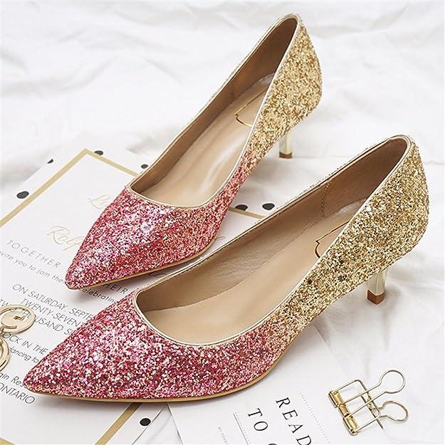 YUCH Frauen Schuh Flach Elegante Frauen Schuhe, Zijin, 36