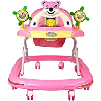Toyboy Panda Musical Walker - Foldable & Height Adjustable - Pink