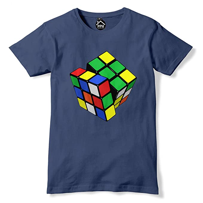 Melted Rubiks Cube T-Shirt Big Bang Theory in 30 colours Gift Funny S-XXL
