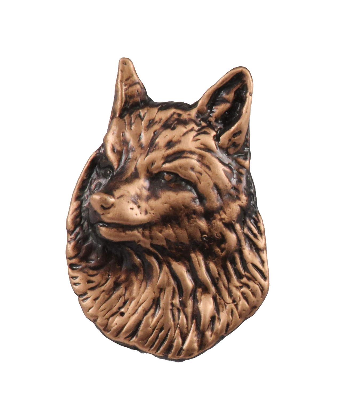 Brooch Red Fox Head Mammal Pewter Lapel Pin M044 Jewelry
