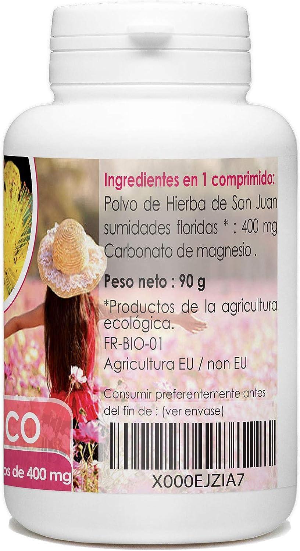 Hipérico (Hierba de San Juan) Organico 400 mg - 200 comprimidos ...