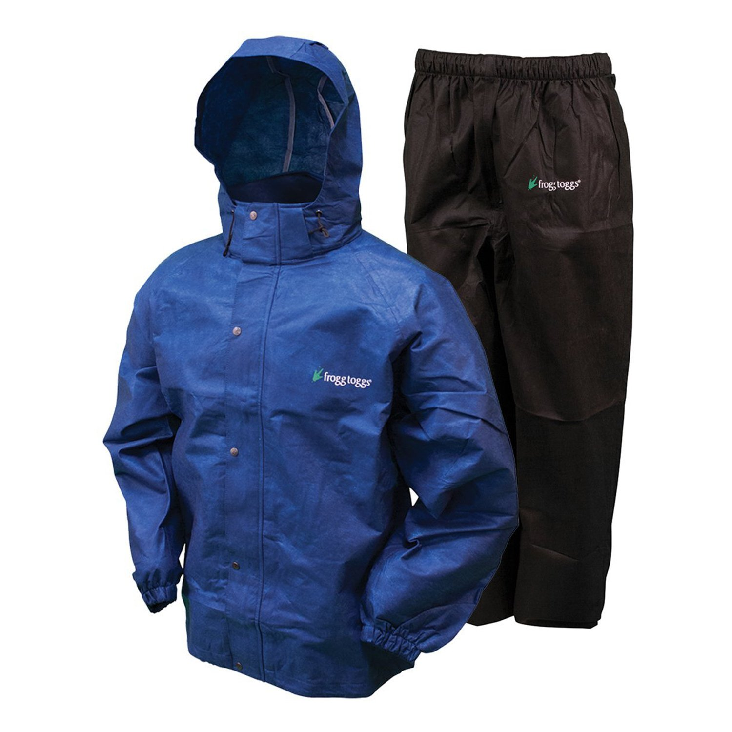 Frogg Toggs All Sport Rain Suit, Royal Blue Jacket/Black Pants, Size Small