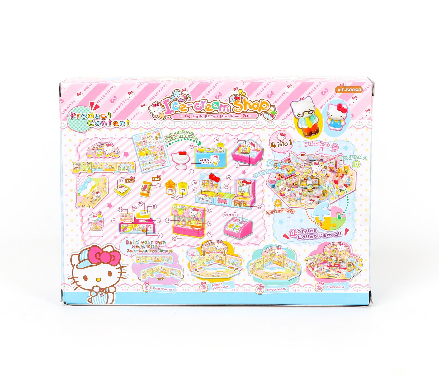 Amazoncom Hello Kitty Ice Cream Shop Playset Toys Games