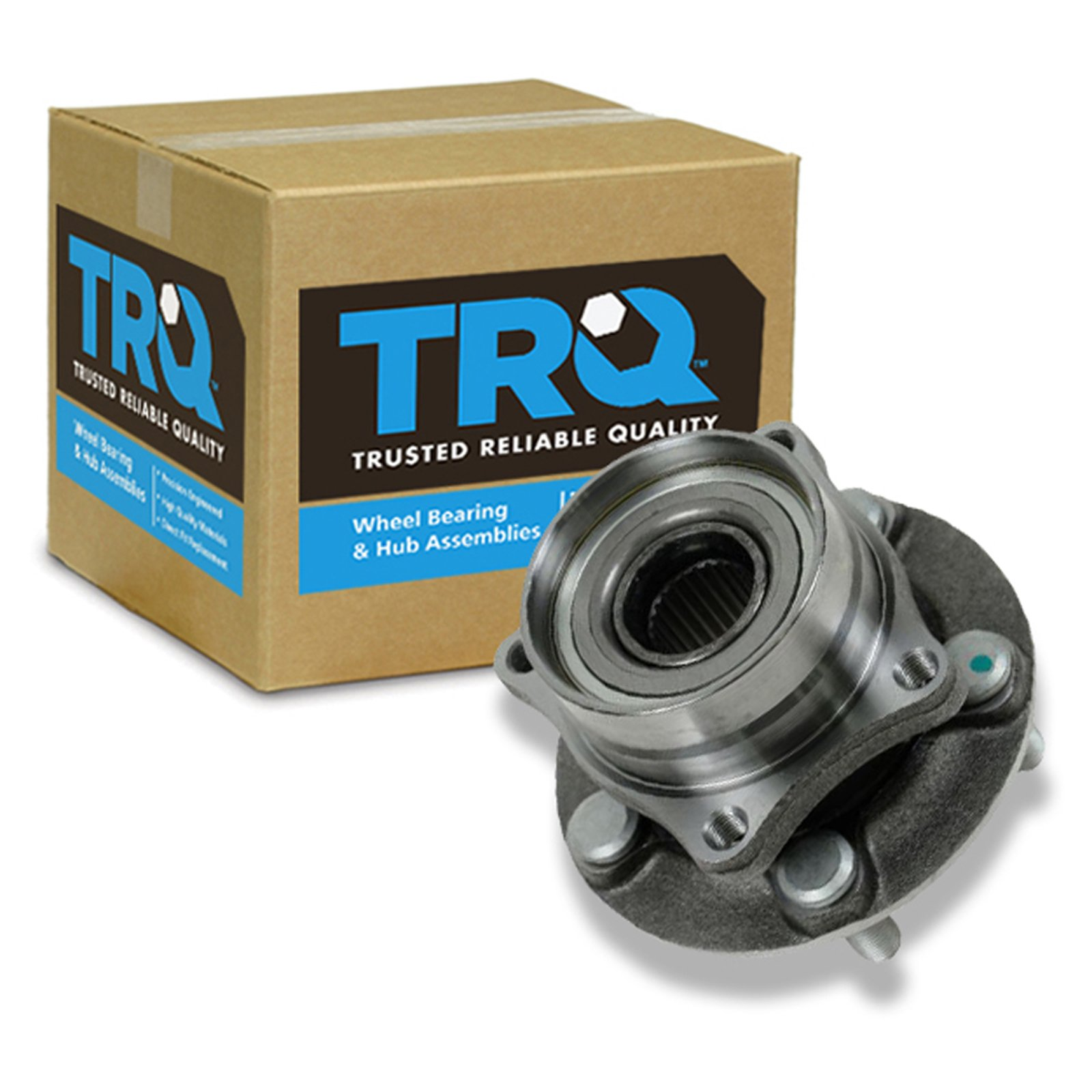 TRQ Front Wheel Hub & Bearing Assembly for 04-09 Toyota Prius
