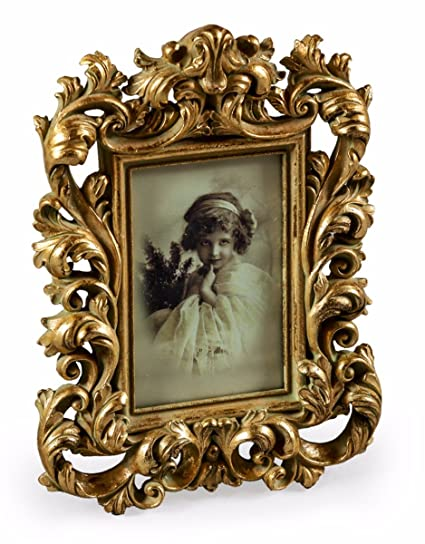 62e13c8fe4d Image Unavailable. Image not available for. Colour  Baroque Photo Frame  Antique Gold ...