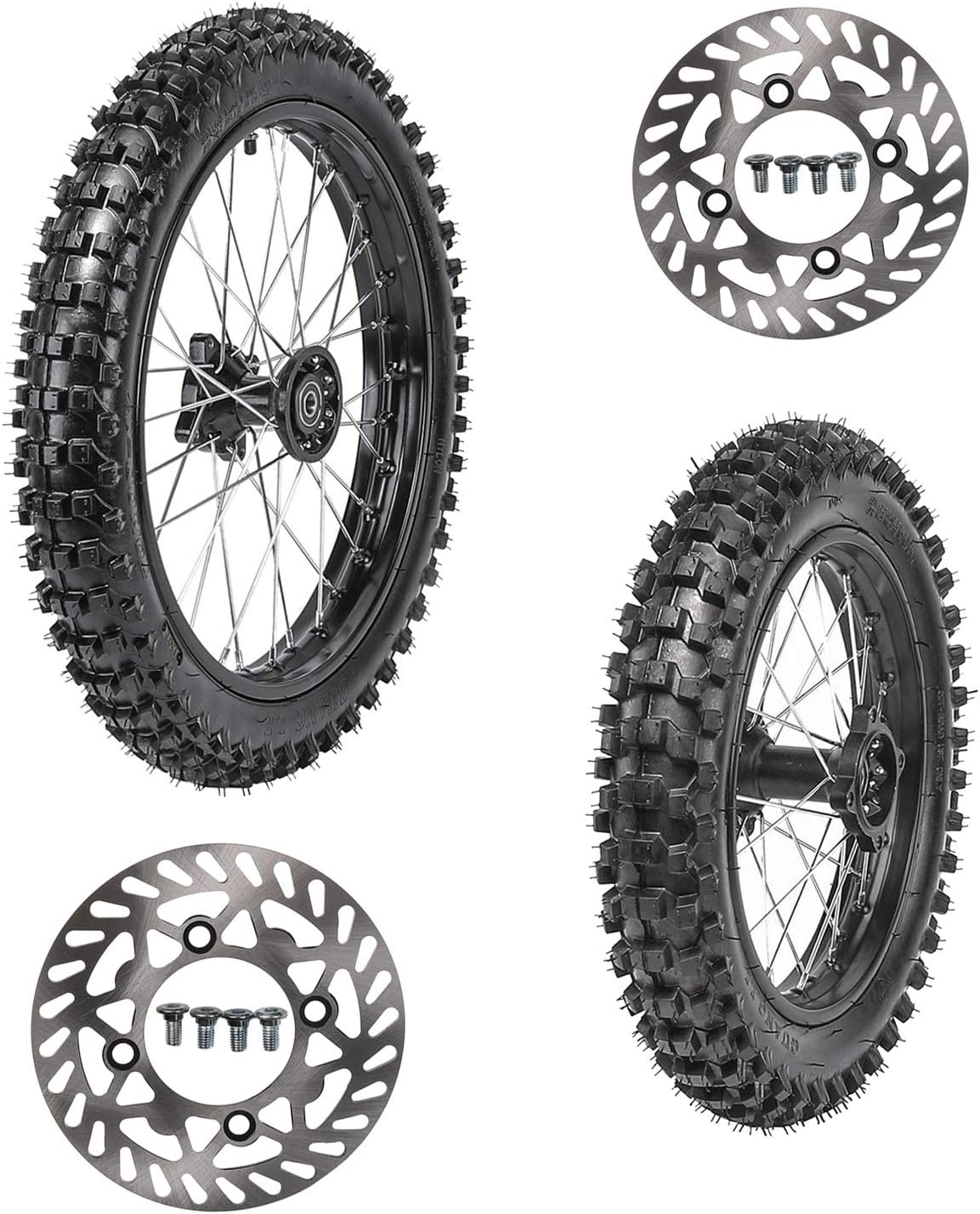 1.6x17 Wheel Tire and Rim Inner Tube with 15mm Bearing Assembly For Dirt Pit Bike 2.75x17 TDPRO 70//100-17