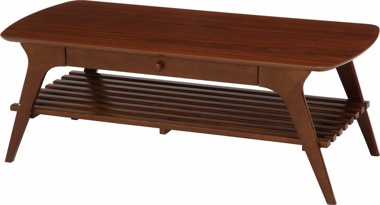 不二貿易 引出付き センターテーブル アルブ 幅110cm ブラウン 37031 B019CFEH9S Parent ブラウン