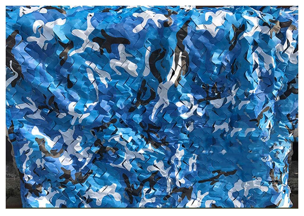 ZhHOME Tarnnetz im Freien, Wildes kampierendes Segeltuch-Netz, für Sonnenschutzmittel-Tarnung, Multi Größen-wahlweise freigestellt, Ozean-Farbe B07FJZZDZT Eisangeln Im Freien