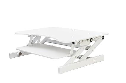 Rocelco dadr Deluxe altura ajustable Sit/Stand Escritorio Ordenador Riser, 2 – 3 Monitor