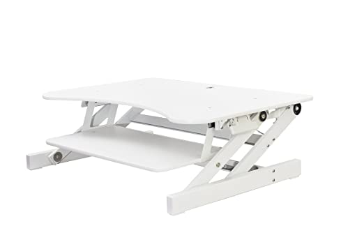 Rocelco dadr Deluxe altura ajustable Sit/Stand Escritorio Ordenador Riser, 2 - 3 Monitor capaz con bandeja retráctil para teclado, color Deluxe 32
