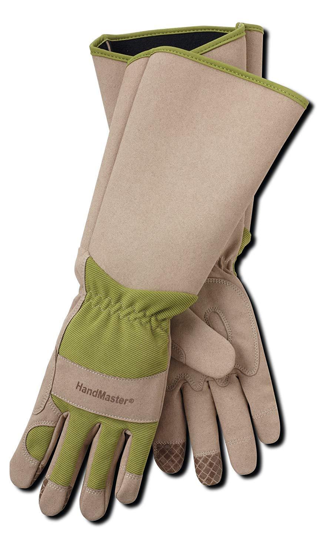 Magid Glove & Safety BE194TXL-AMZN Rose Gloves, 1 Pair, Tan & Green