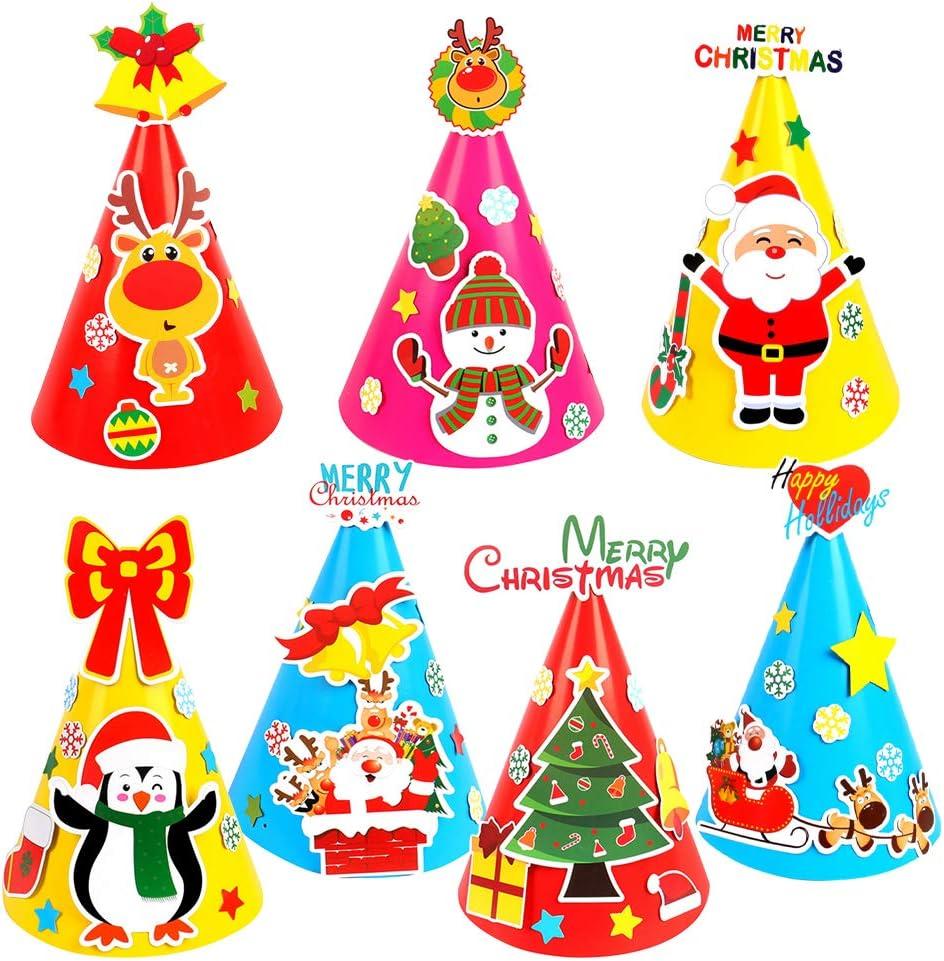 ~ Santa Clause Hats Christmas Saint Nick Paper House StickyPix Stickers ~