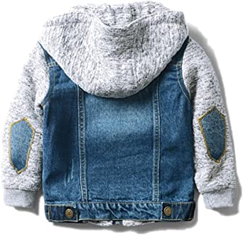 LJYH Boys Girls Vintage Washed Basic Denim Jacket