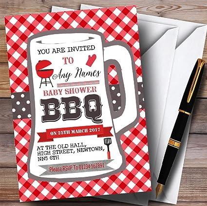 amazon com pint glass bbq invitations baby shower invitations
