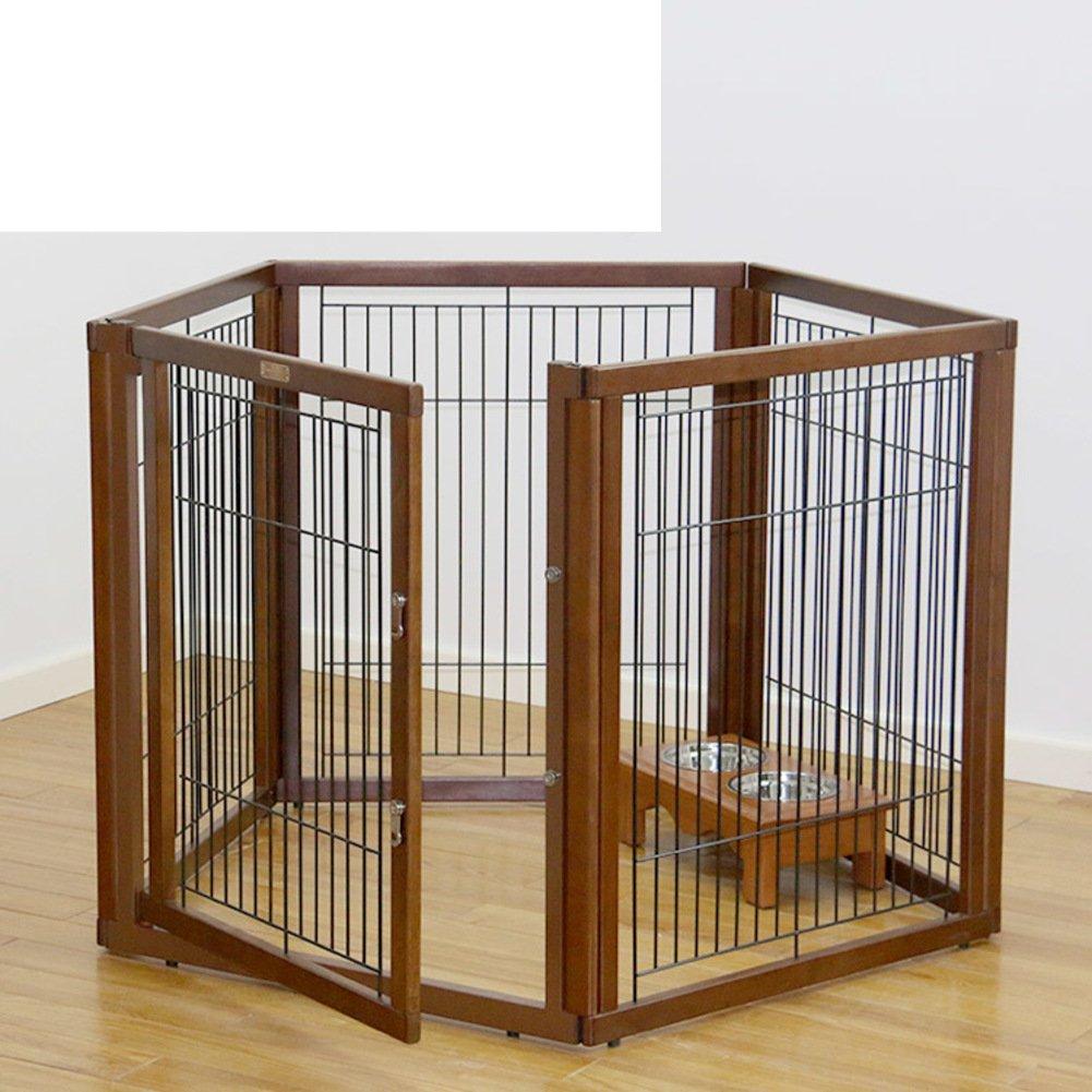 折り畳み式の金属製犬クレート,ペットのケージ フェンス 犬ケージ 小型、中型犬の犬小屋 ペット犬小屋大オープン犬小屋屋内犬クレート トレイ 屋外犬のクレート パッド-A B07CVSJ7NF 16885 A A