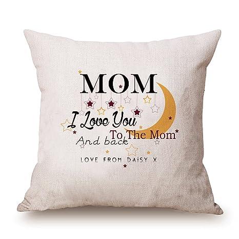 misshow personalizado funda de cojín regalo para mamá ...