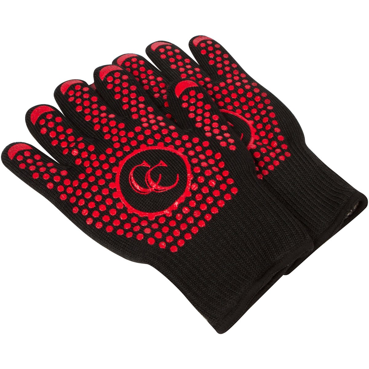 Culinary Couture Hot Gloves for Barbecue Grilling Cooking - Heat Resistant Oven Mitts Set - Provides 662F Protection - Bonus Ebook - XL
