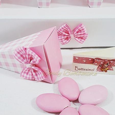 Bandeja compuesto de 24 conos de color rosa para niña ...
