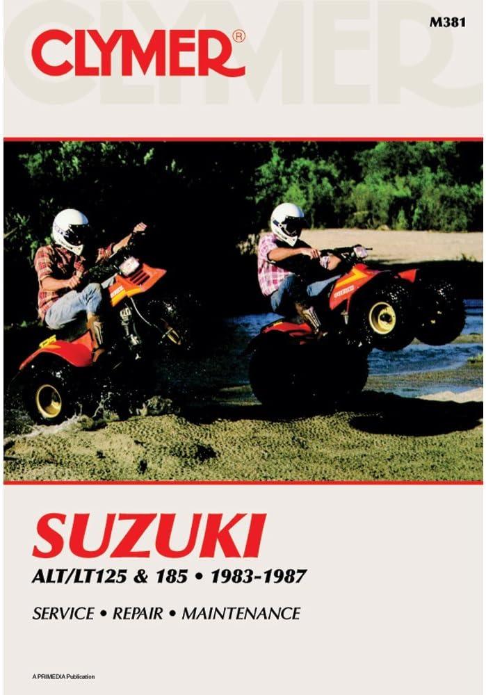 suzuki lt 125 wiring diagram amazon com clymer repair manual for suzuki atv alt lt 125 185 83  clymer repair manual for suzuki atv alt