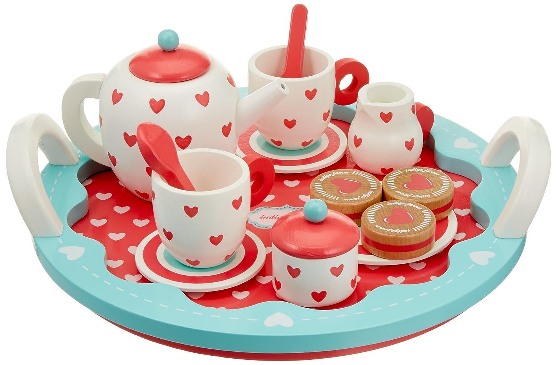 Teeservice Kinder - Holz Herzen Tee-Set