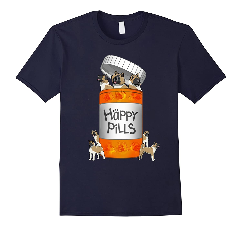 Akita Happy Pills T-shirt-Art