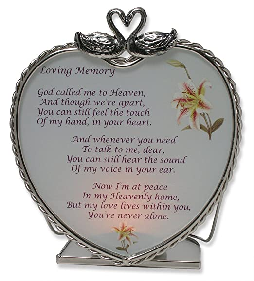 Amazon.com: Loving Memory Bereavement Memory Candle Holder: Home ...